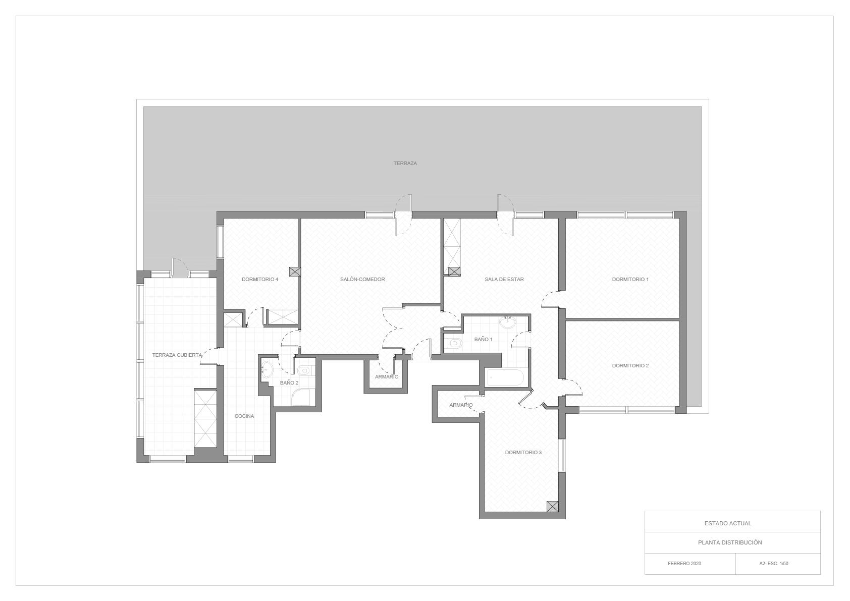 Plano actual de la vivienda